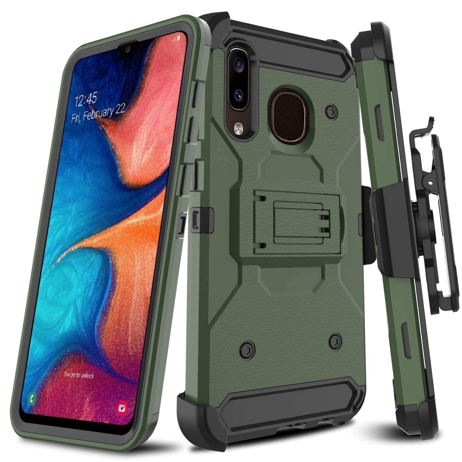 Funda Para Samsung Galaxy A20 / A30 / A50 Con Pie Leptech [7vp62dyz]