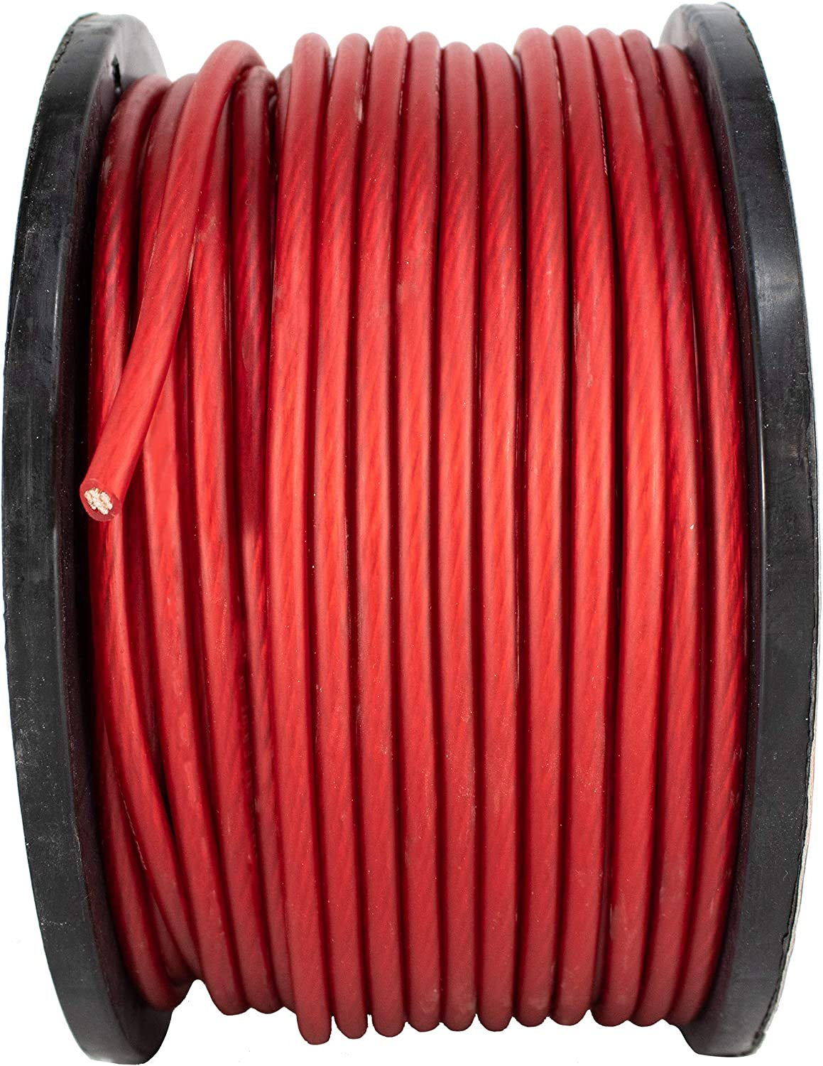 8 AWG 250FT Red Power Ground Wire Cable Copper Mix True AWG GA