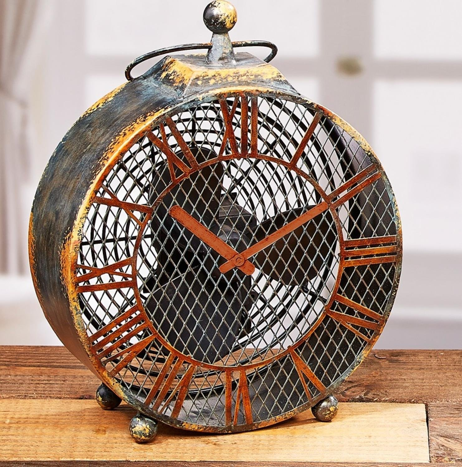 Deco Breeze DBF0125 Figurine Antique Clock Fan