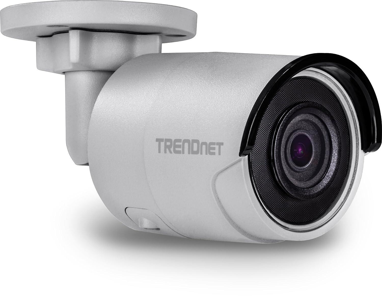 TRENDnet Indoor/Outdoor 2 MP H.265 WDR PoE IR Bullet Network Camera, Night Vision up to 30M (98ft.), IP67 Weatherproof Housing, TV-IP326PI