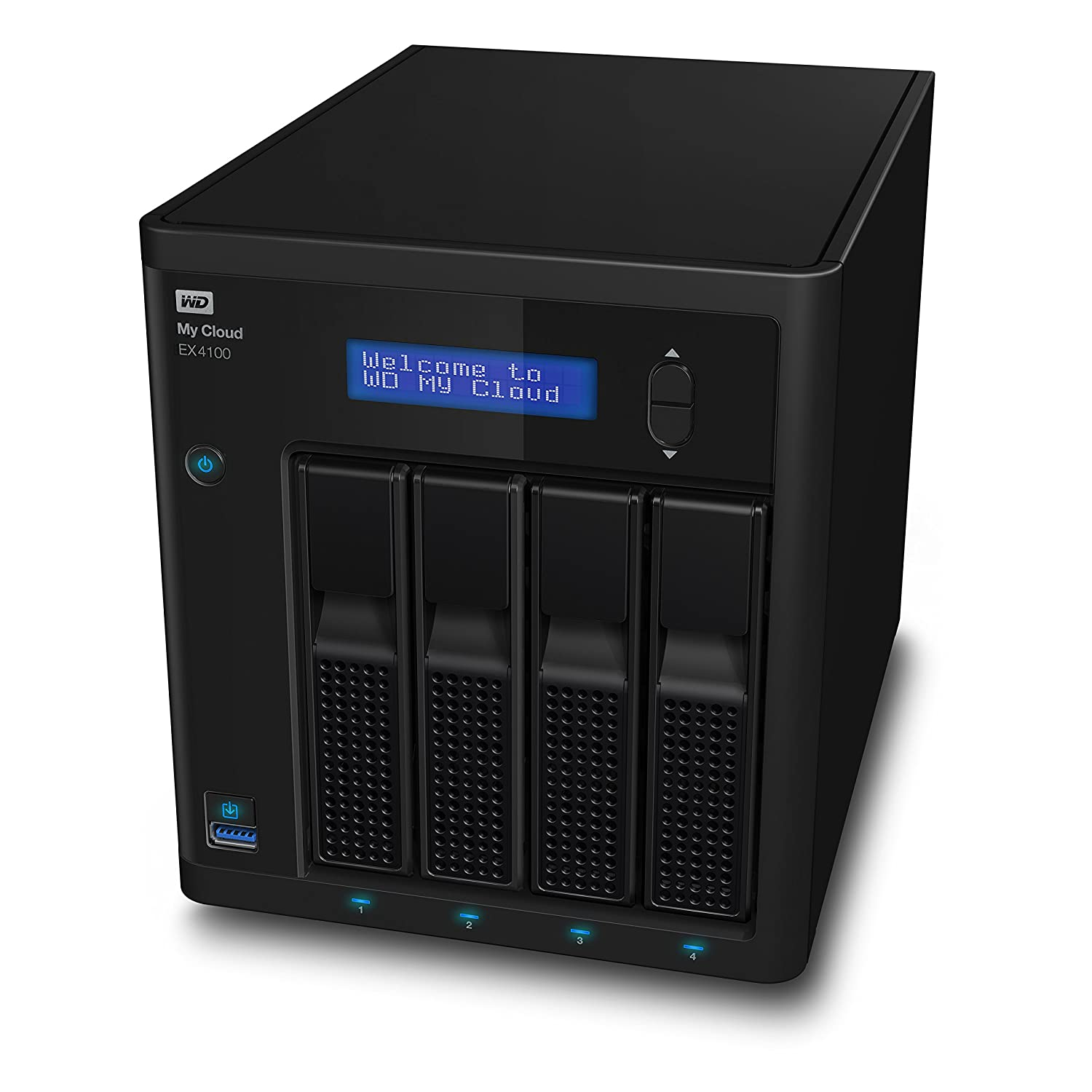 Western Digital My Cloud EX4100, Almacenamiento en Red NAS, 4 Compartimentos, Conexión de Redes Ethernet, My Cloud OS, 32TB, Negro