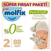 Molfix Pure&Soft Bebek Bezi, 2 Beden, 88 Adet