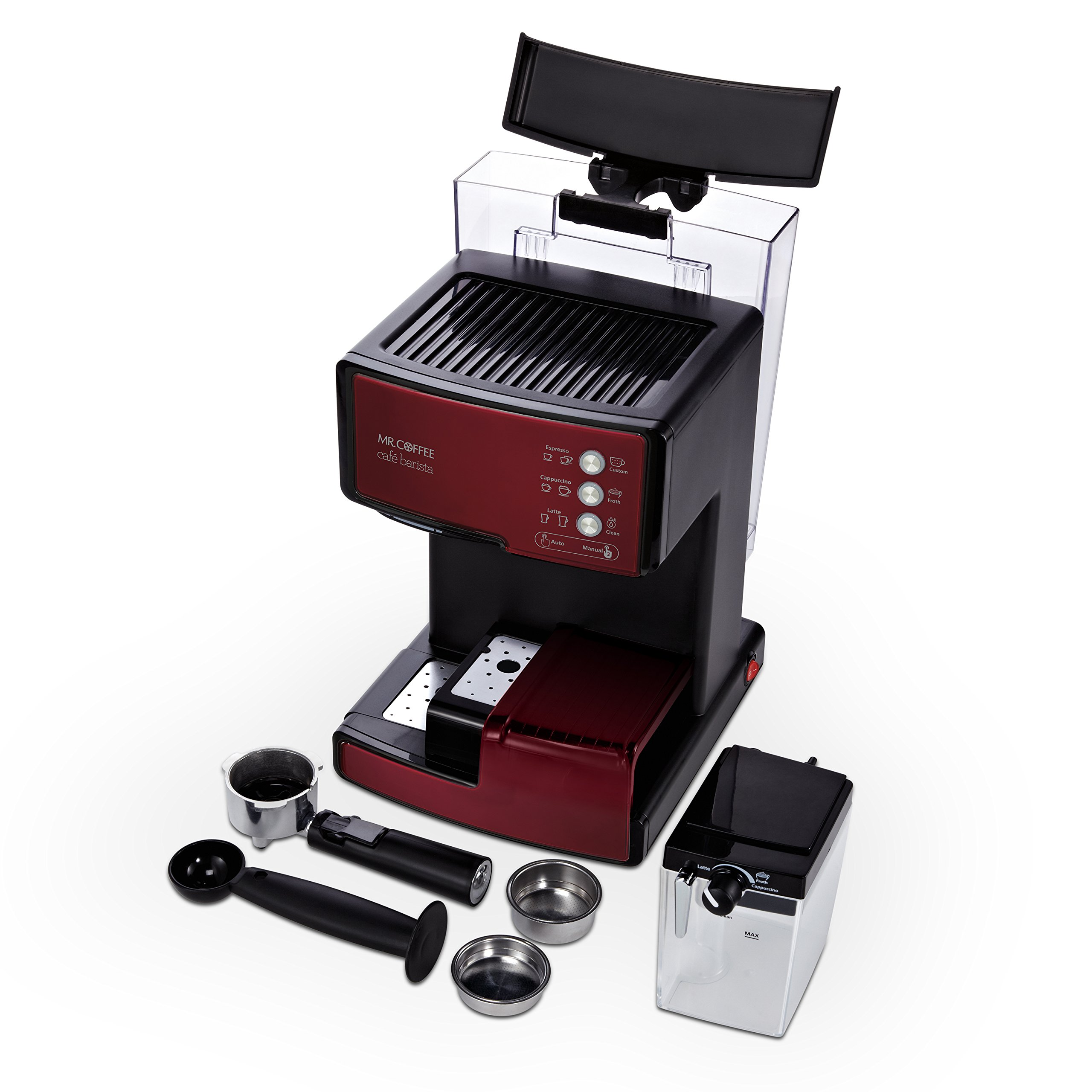 Mr. Coffee Cafe Barista Espresso and Cappuccino Maker, Red - BVMC-ECMP1106 by Mr. Coffee (Image #2)