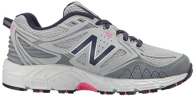 New Balance Women's Cushioning 510V3 Trail Running Shoe Runner, Silver MinkGunmetal, 6 B US