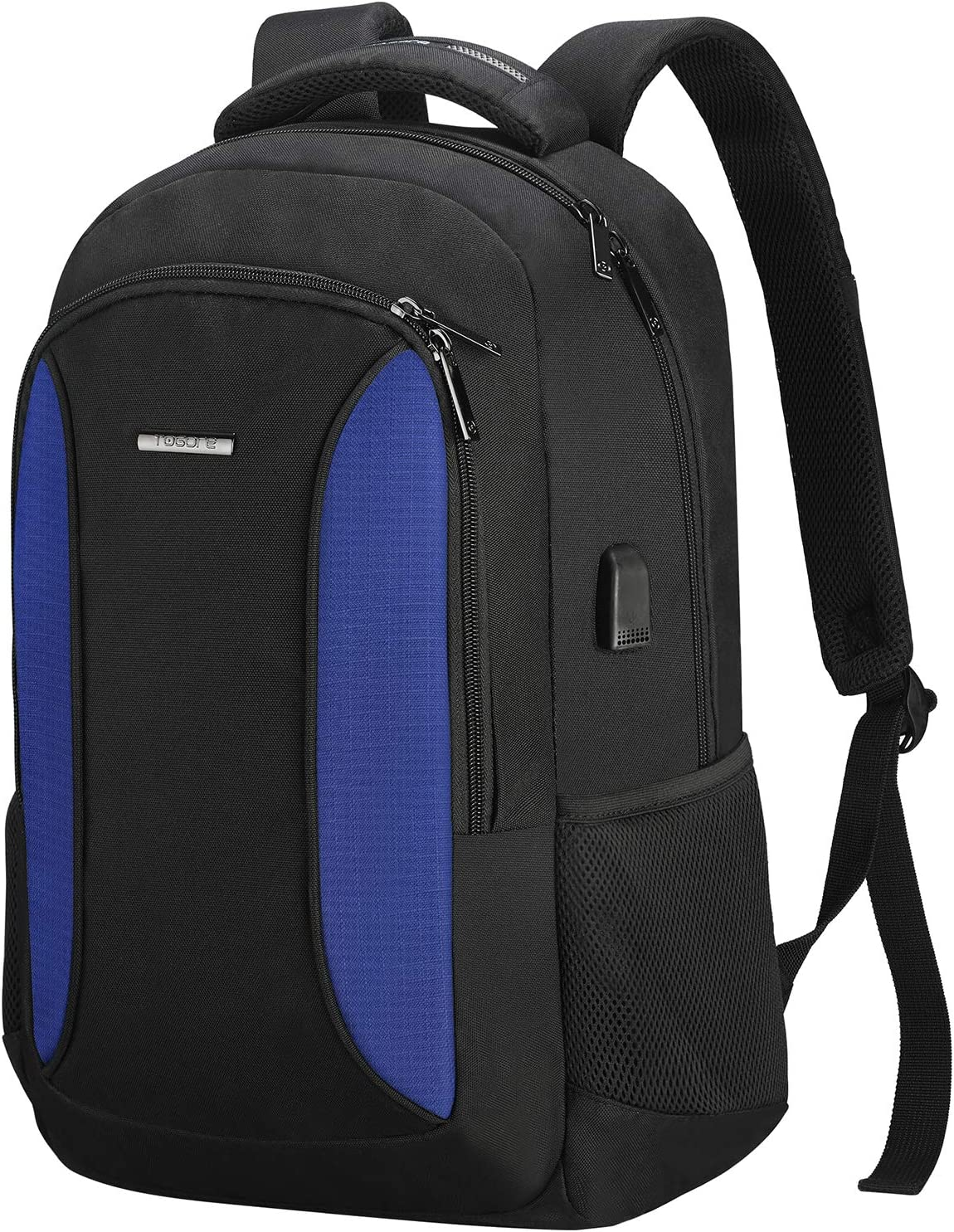 TOGORE WorkGo Slim Laptop Backpack 15.6 Inch, Water Resistant Travel Business Computer Backpack with USB Charging Port for Women & Men - Blue