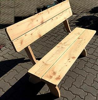 Garten Bank Cm Fsc Holz Massiv Lrche Parkbank Mit Lehne With Gartenmbel Holz  Massiv
