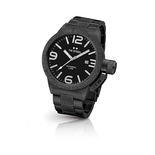 TW Steel Reloj Analógico para Hombre de Automático con Correa en Acero Inoxidable TWCB215: Amazon.es: Relojes