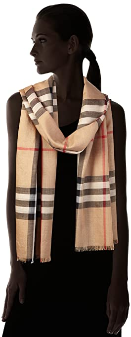 Burberry Unisex Lightweight Check Wool And Silk Scarf Camel At - Free printable auto repair invoice template burberry outlet online store