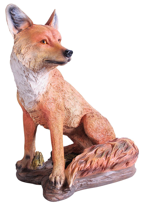 Amazon.com : Kelkay 4433 Sitting Fox Statue : Outdoor Statues : Garden U0026  Outdoor