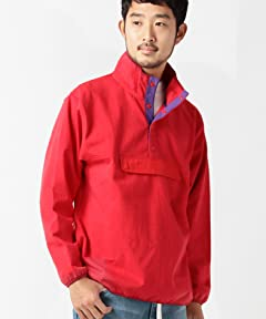 Stand Collar Pullover Blouson 11-18-2991-120: Red / Purple