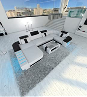 Amazon.com: Modern Fabric Sectional Sofa MEZZO LED: Kitchen ...