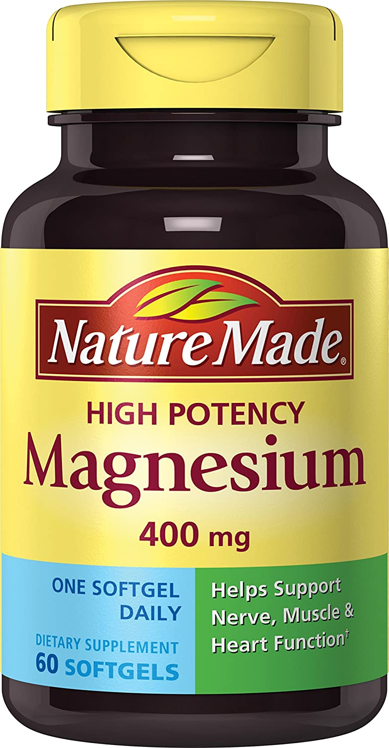 amazon com nature made high potency magnesium softgels 60 count