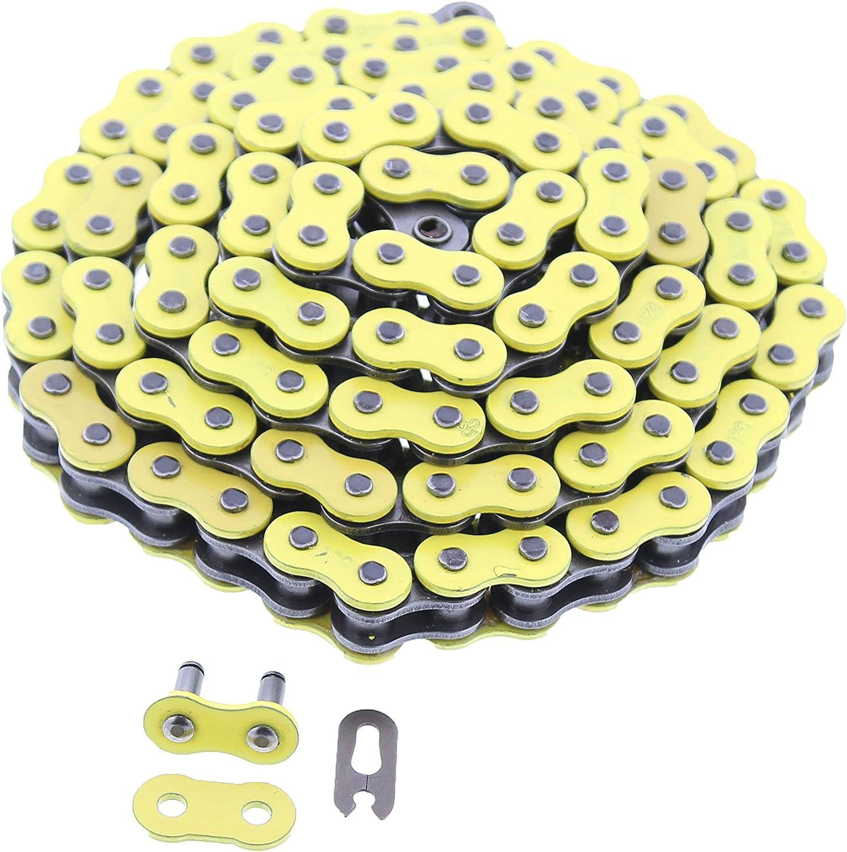87-04 Kawasaki KSF250 250 Mojave Yellow Non O-Ring Chain 520-90L ATV 4 Wheeler