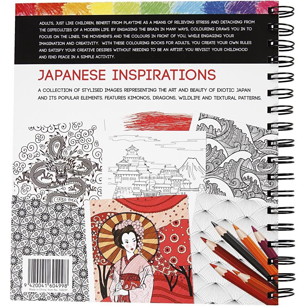 Antistress Malbuch, Größe 19,5x23 cm, 64 Seiten, Japan, 1Stck ...
