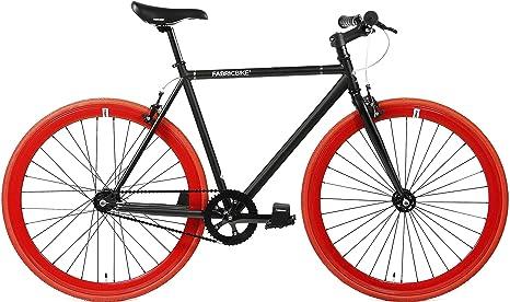 FabricBike Original Bicicleta, Adultos Unisex, Negro Mate y Rojo ...