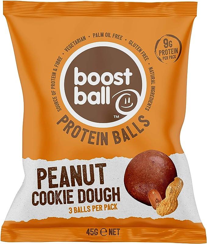 Bolitas proteicas de galleta de mantequilla de cacahuete boostball (Pack de 12 x 42g)