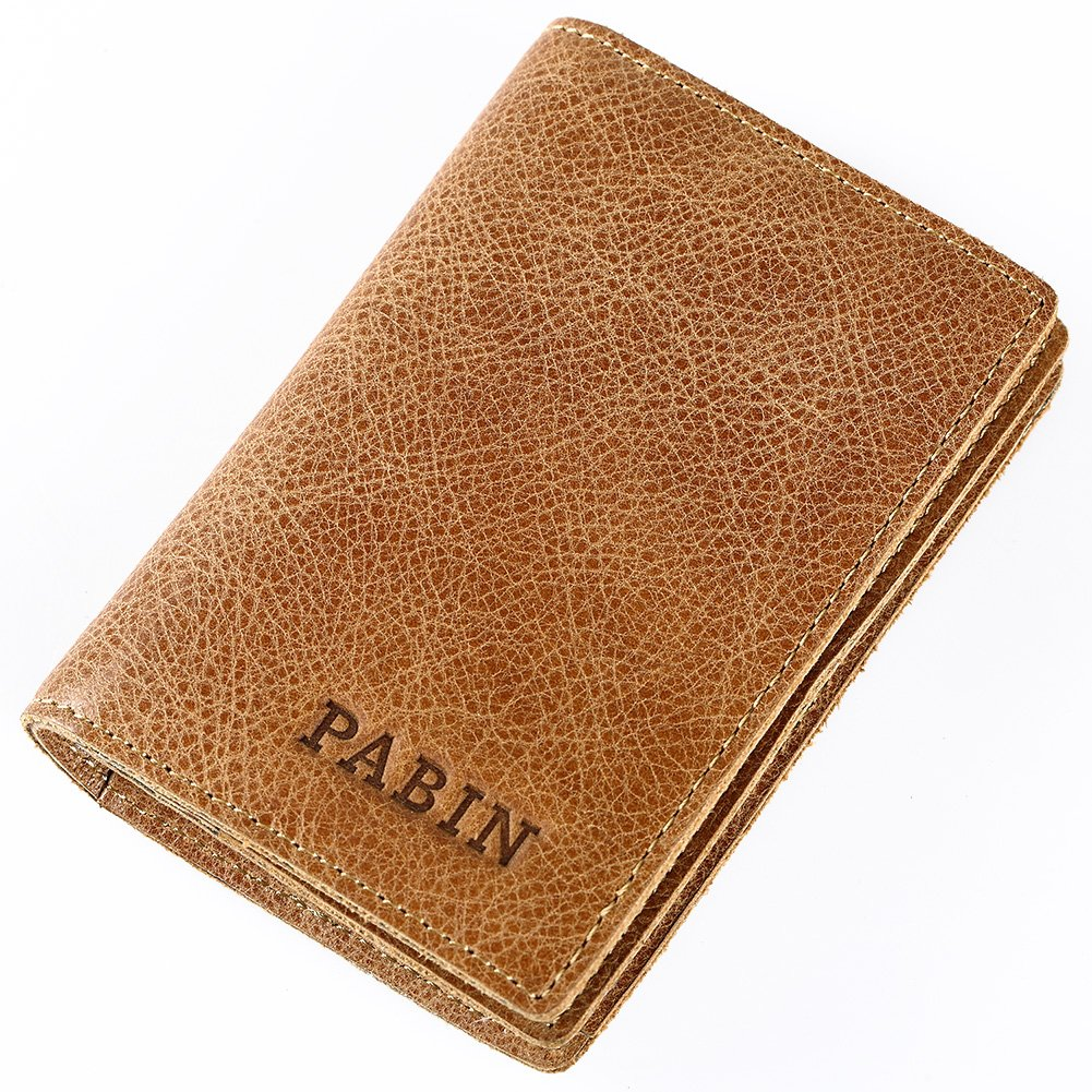 RFID Blocking Credit Card Holder Leather ID Case for Men Pabin (Vintage Brown) by Pabin (Image #1)