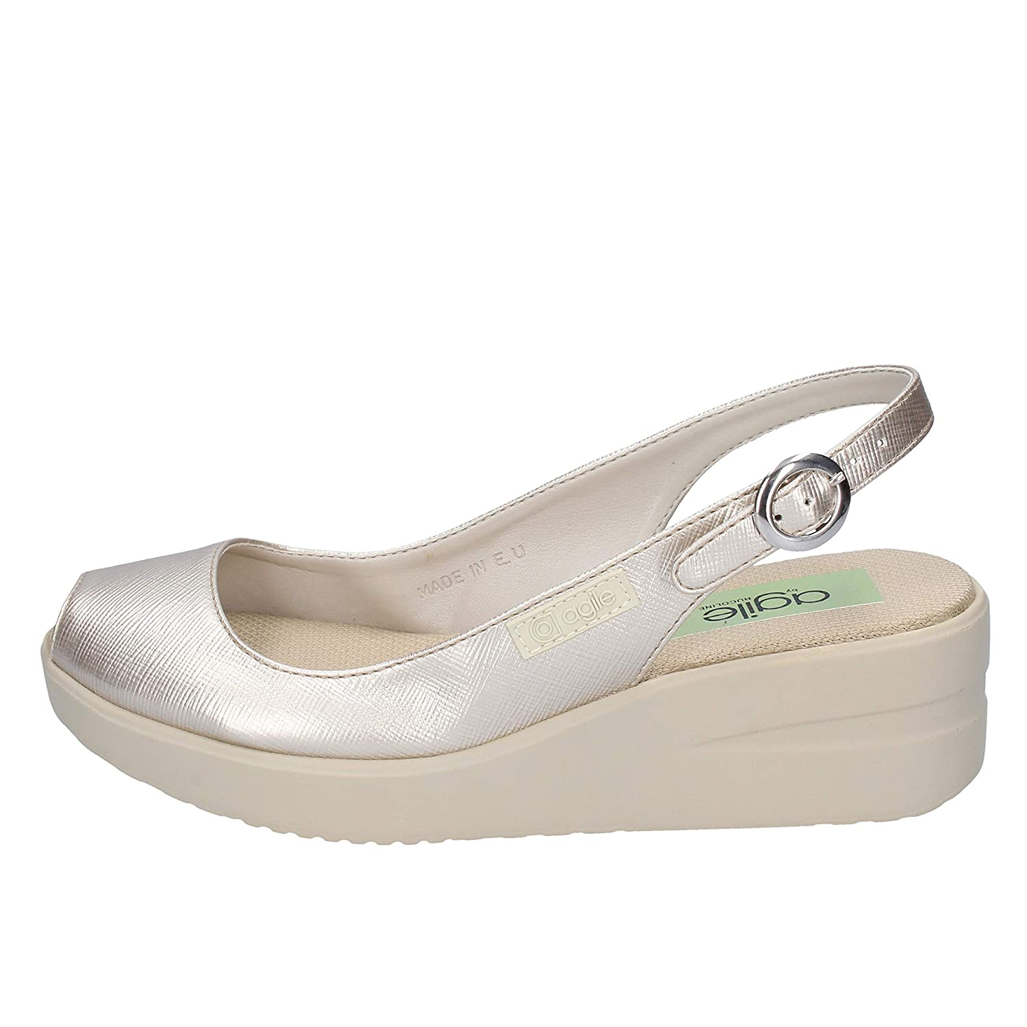 - Agile by Rucoline Sandals Womens Leather gold