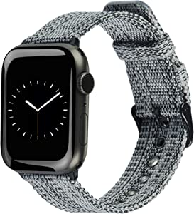 ALADRS Nylon Strap Compatible with Apple Watch Band 42mm 44mm, Black