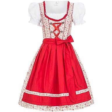 Gaudi-Leathers Dirndl Millie Traje Tradicional de Tirolesa Vestido ...