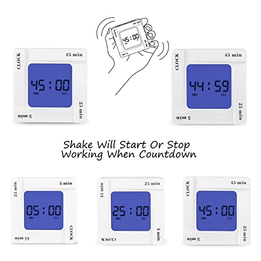 Timer Alarm Clock 12 24 Hours 45 25 5mins Countdown And