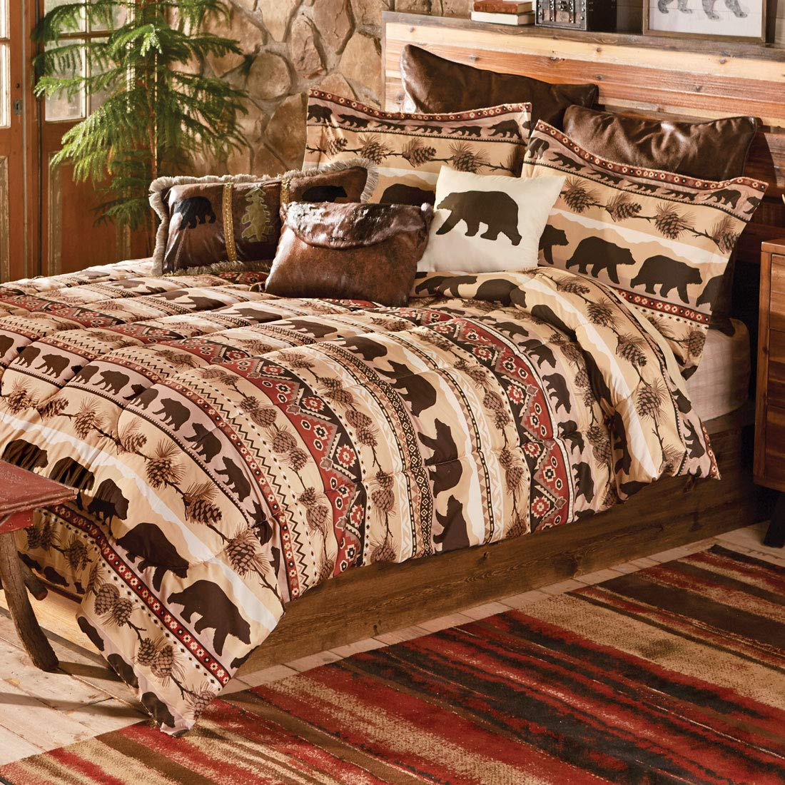 Black Forest Décor Mountainside Bear Bed Set - King