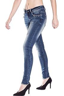 Blue Monkey Damen Slim Fit Jeans In Cleaner Optik Slim Fit