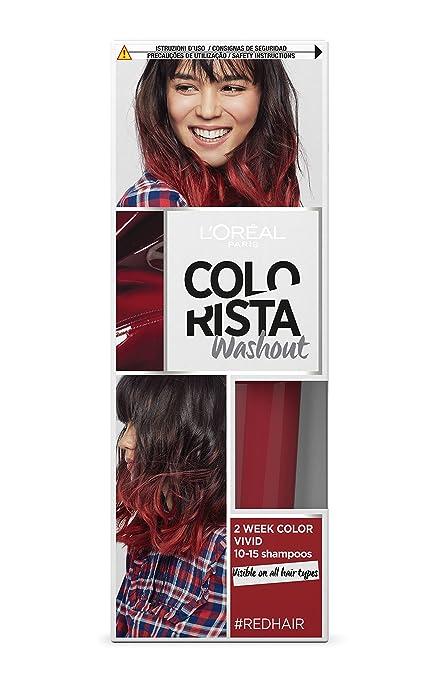 186 opinioni per L'Oréal Paris Colorista Washout Vivid Colorazione Temporanea 2 Settimane, Rosso