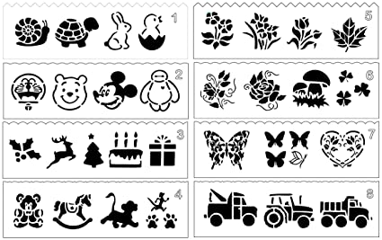 Amazon 8 pcs drawing painting stencil templates set for kids 8 pcs drawing painting stencil templates set for kids crafts creationgraphics and animal education maxwellsz