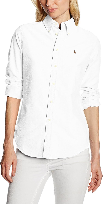 Polo Ralph Lauren HARPER LS SHIRT - Camisa Mujer: Amazon.es: Ropa ...