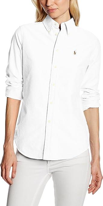 Polo Ralph Lauren HARPER LS SHIRT - Camisa Mujer: Amazon.es: Ropa y accesorios