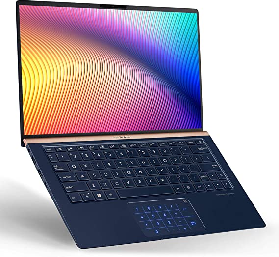 "ASUS UX333FA-AB77 ZenBook 13 Ultra Slim Laptop, 13.3"" FHD WideView, 8th-Gen Intel Core i7-8565U CPU, 16GB RAM, 512GB PCIe SSD, Backlit KB, NumberPad, Military Grade, TPM, Windows 10 Pro, Royal Blue"