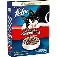 Felix Countryside Sensations Kattenvoer, Kattenbrokken met Rund, Kip & Groenten, 1kg - Doos van 5 (5kg)