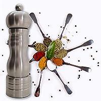 RD ROYAL COOK Condimentero de acero inoxidable, Pimentero Inoxidable manual, Molinillo de sal y pimienta manual molino…