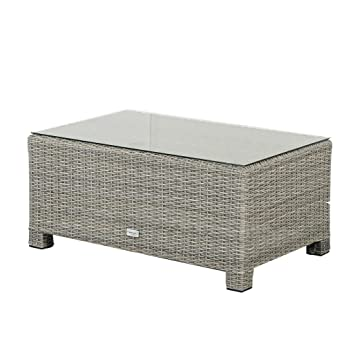 Schlichter Möbel Garden Furniture Polyrattan Lounge Side Table Fredo