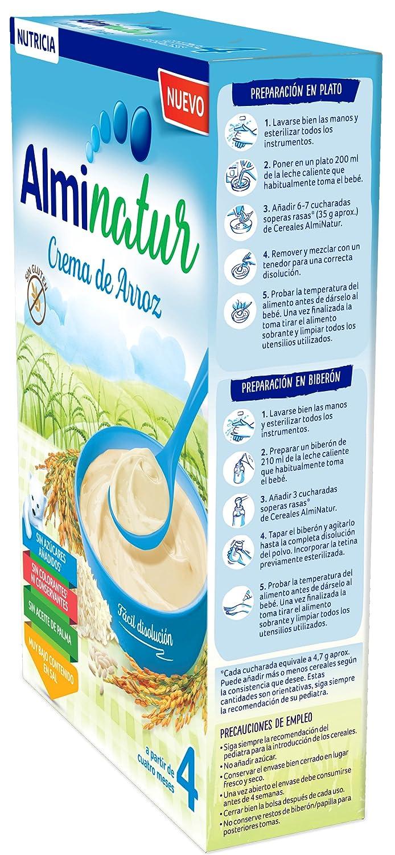 Alminatur Papilla de crema de arroz a partir de los 4 meses - Paquete de 7 x 250 gr - Total: 1.75 kg: Amazon.es: Alimentación y bebidas
