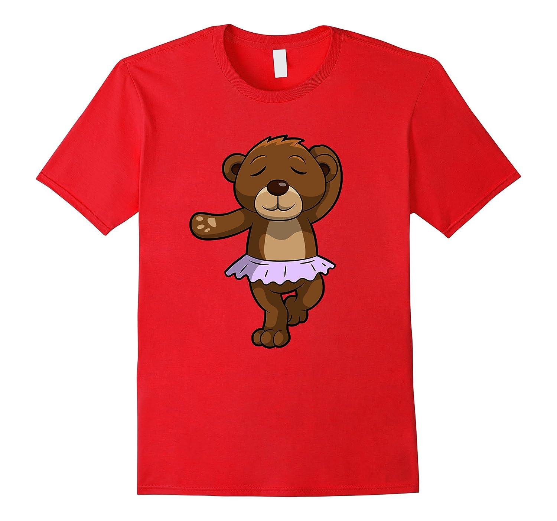 Brown Bear Wearing A Lavender Tutu Dancing Bear T-shirt-Rose