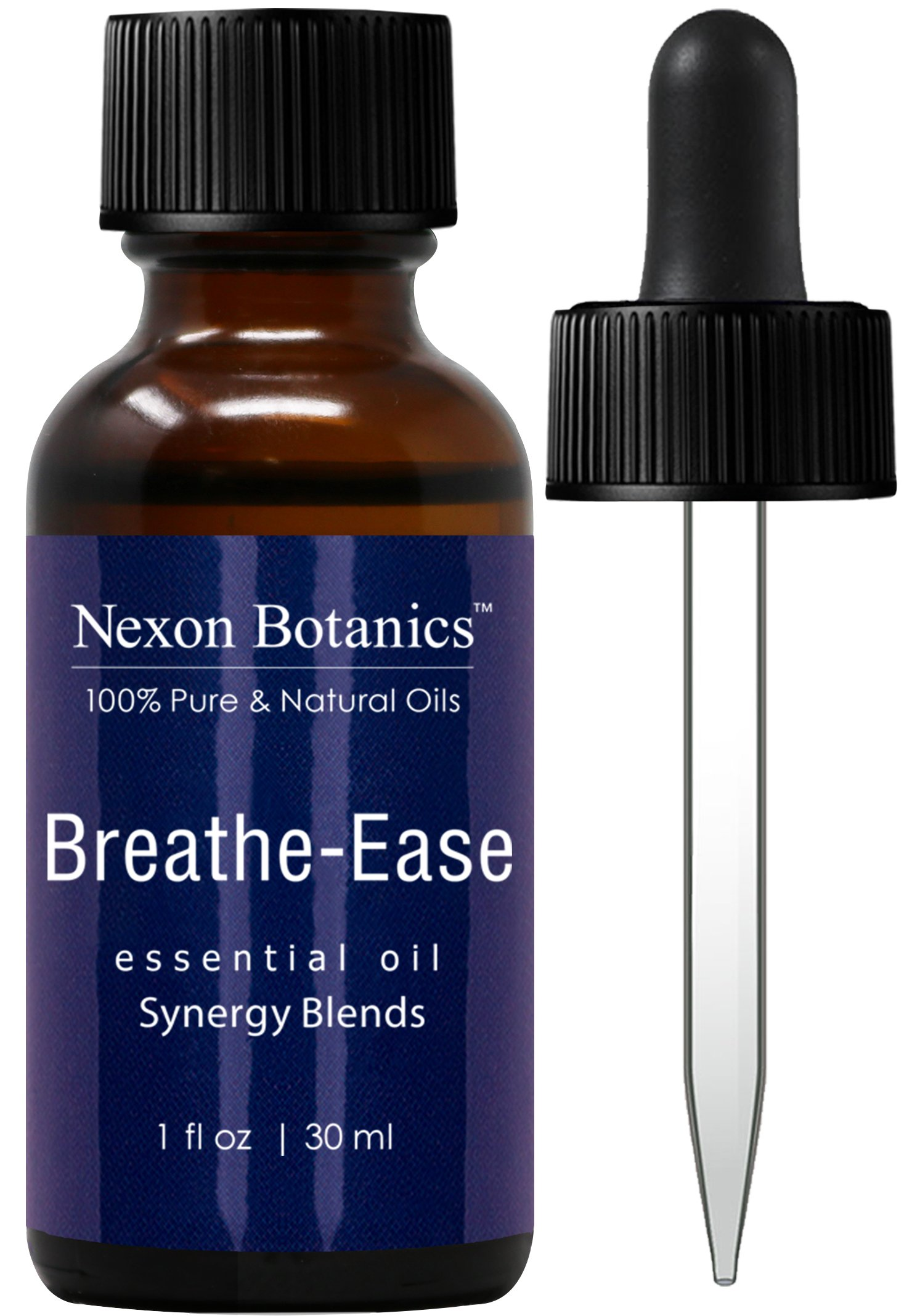 Breathe Ease Essential Oil Synergy Blend - 100% Pure and Natural Therapeutic Grade Blends from Eucalyptus, Rosemary, Peppermint and Niaouli Oils - Best Aromatherapy Breathing from Nexon Botanics(30ml)
