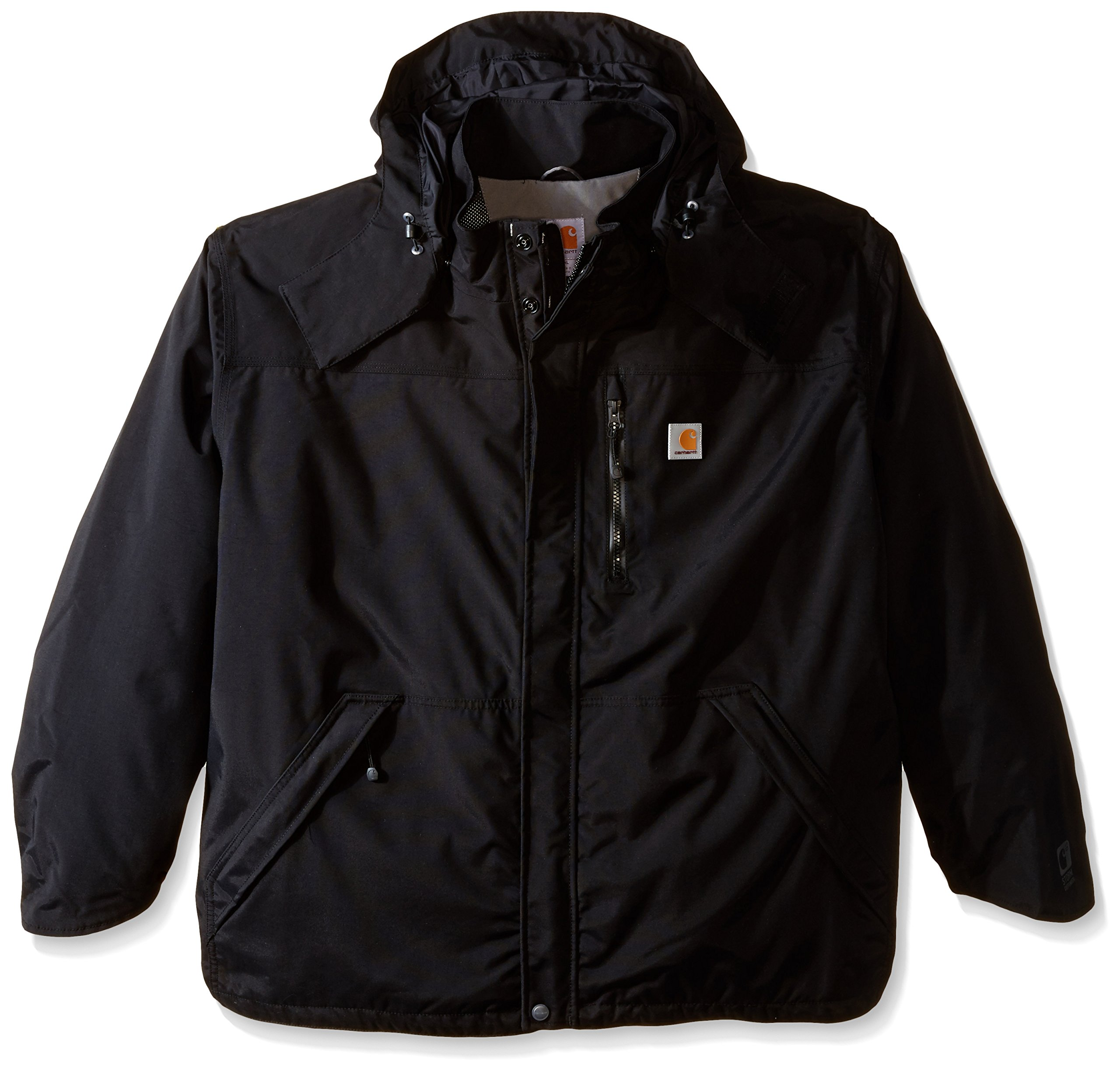 Carhartt Men's Big & Tall Shoreline Jacket Waterproof Breathable Nylon,Black,XXXX-Large by Carhartt