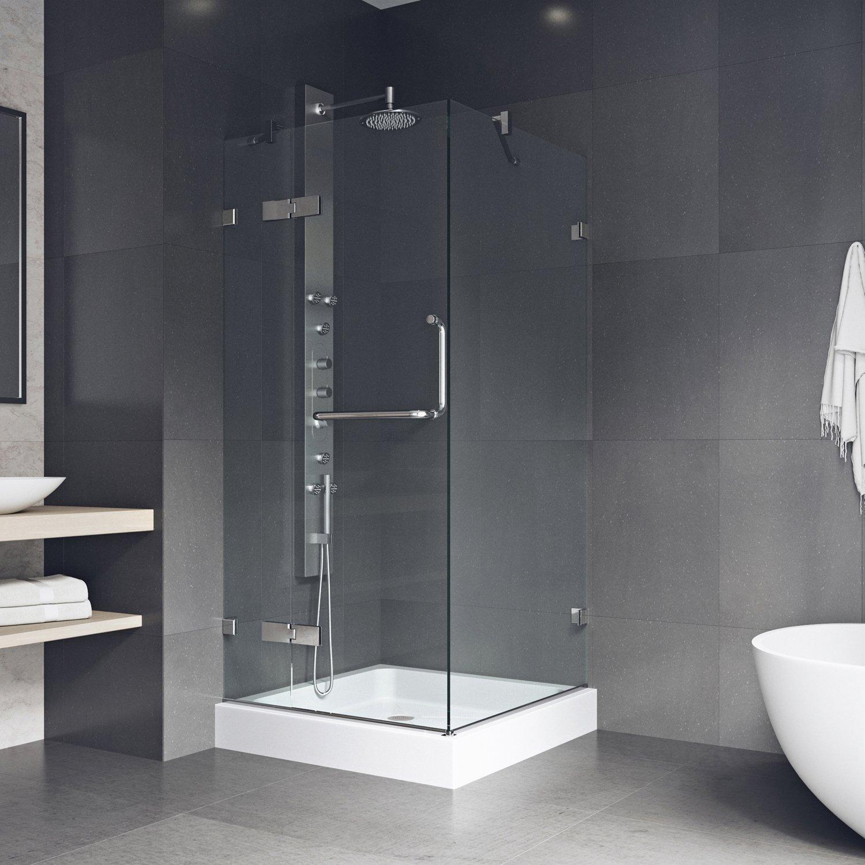 Vigo Monteray 36 X 36 In Frameless Shower Enclosure With 375 In