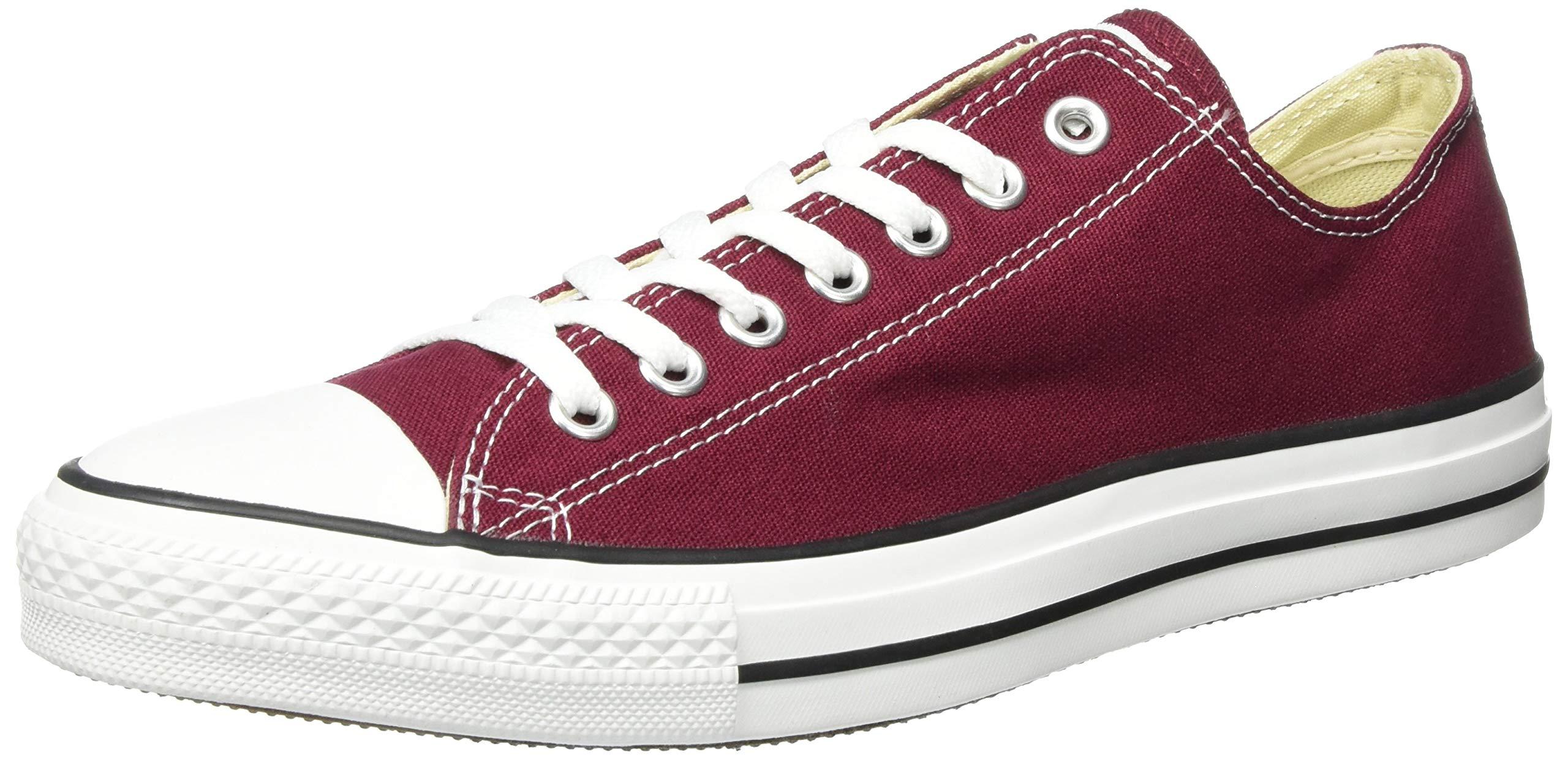 63833f4abeab Galleon - Converse Unisex Chuck Taylor All Star Low Top Maroon Sneakers -  10.5 B(M) US Women   8.5 D(M) US Men