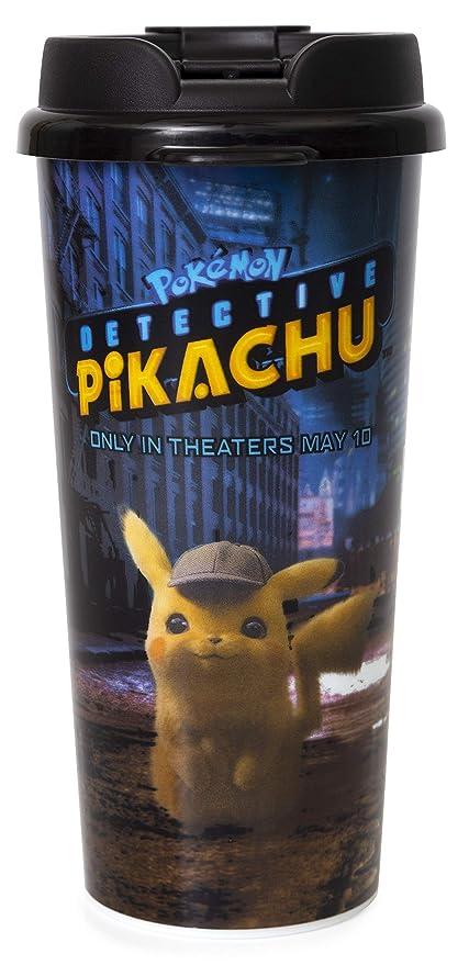 Amazon Com Detective Pikachu Travel Mug Insulated 16 Ounces
