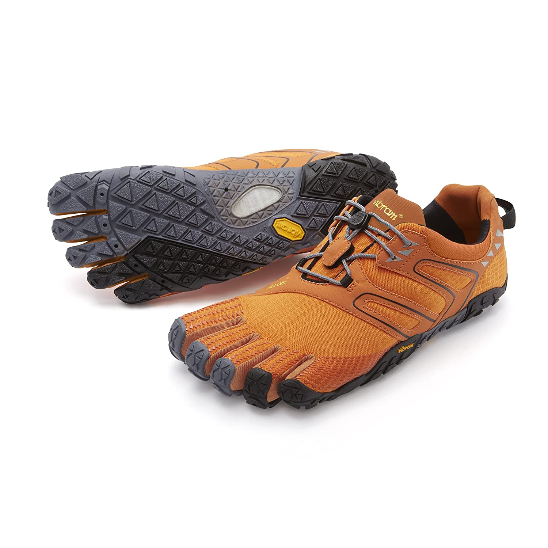 Vibram Fivefingers V-Trail, Zapatillas de Running para Asfalto para Hombre 40 EU Naranja (Orange/Grey/Black)