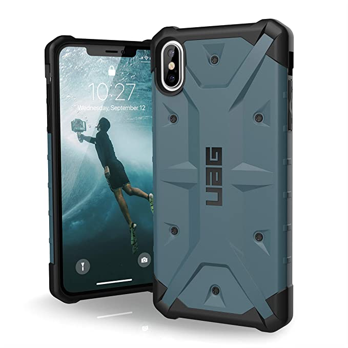 on sale e7447 a0006 URBAN ARMOR GEAR UAG iPhone Xs Max [6.5-inch Screen] Pathfinder  Feather-Light Rugged [Slate] Military Drop Tested iPhone Case