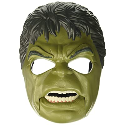 Marvel Toys Thor Ragnarok Hulk Out Mask with Adjustable Strap, Plus Moving Mouth and Eyebrows - Imagine Unleashing the Fury of the Incredible Hulk - Great Halloween Mask Too: Toys & Games