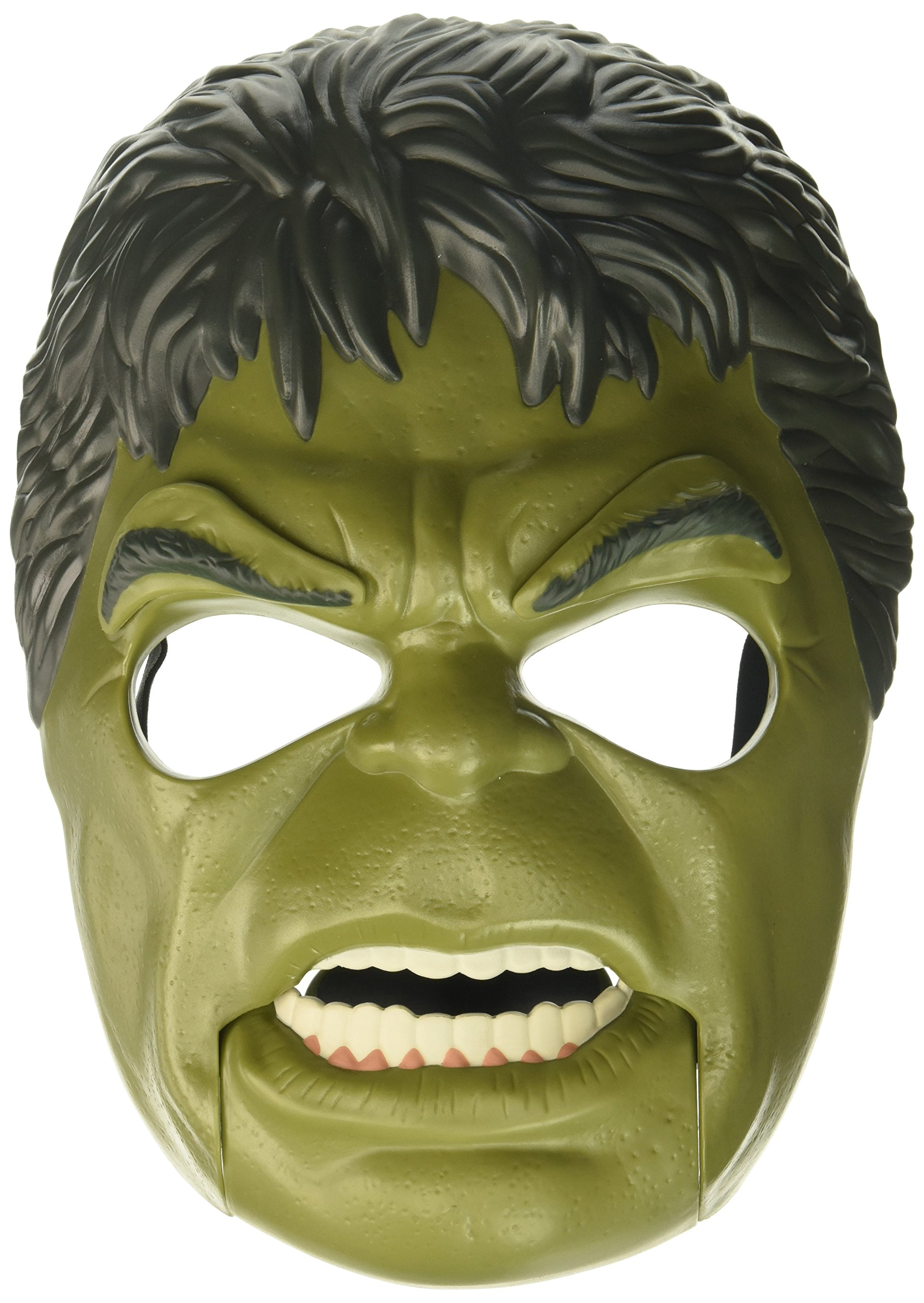 Marvel Toys Thor Ragnarok Hulk Out Mask with Adjustable Strap, Plus Moving Mouth and Eyebrows - Imagine Unleashing the Fury of the Incredible Hulk - Great Halloween Mask Too by Avengers