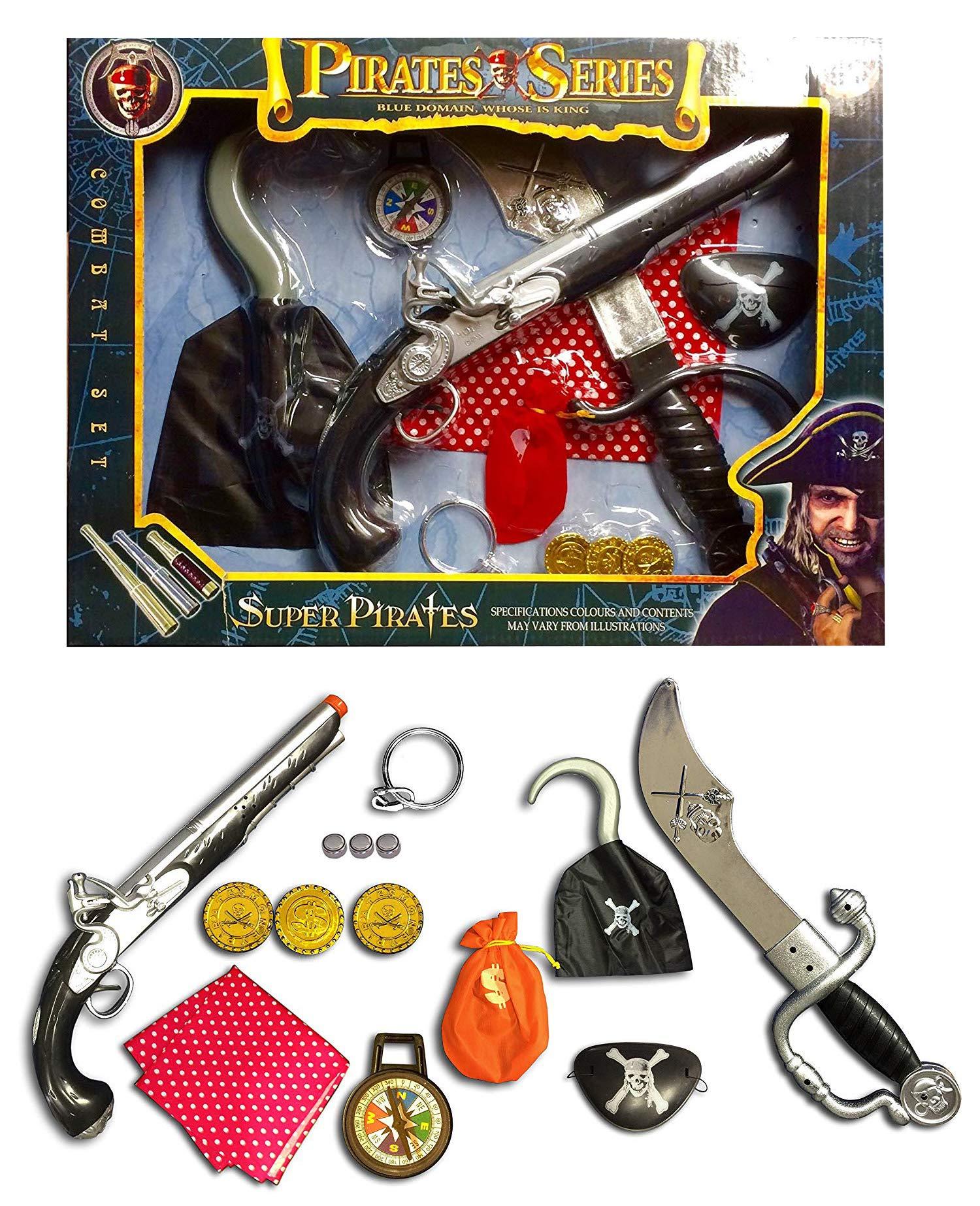 Jack Sparrow pirate musket gun set 5pcs toy