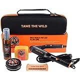 Tame's Easy Glide Beard Straightener Essentials Kit - Anti Scald Beard Straightening Comb - Heat Spray - Beard Soap…