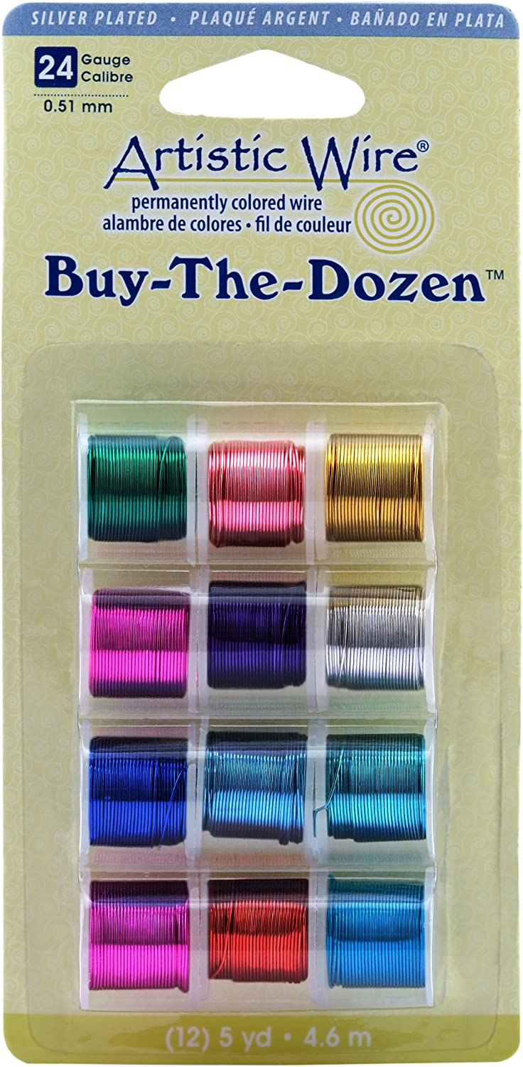 Artistic Wire 24-Gauge Silver Plated Buy-The-Dozen Wire
