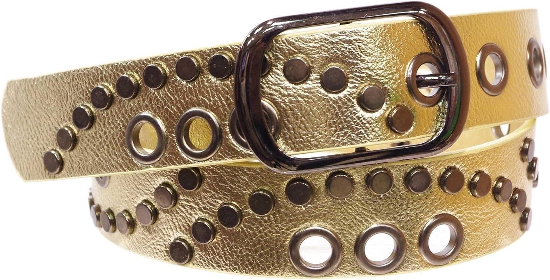 Jacquetta Studded leatherette belt FASHIONGEN